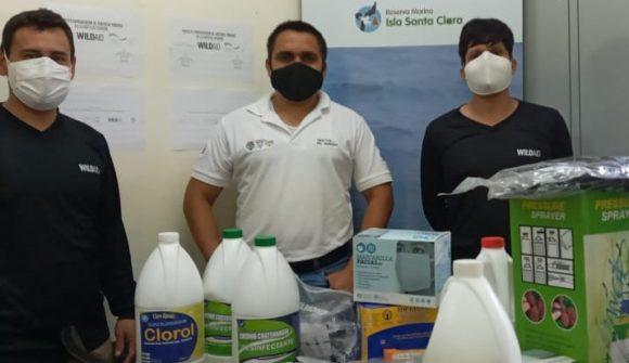 Equipos de protección individual de bioseguridad para 140 Guardaparques, Embarcaciones y Oficinas de la Red de Áreas Marino Costeras del Ecuador