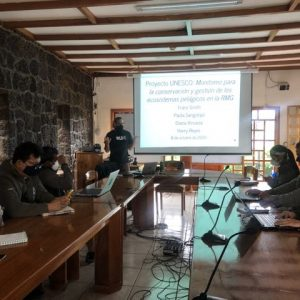 La Dirección del Parque Nacional Galápagos y WildAid desarrollan un Protocolo para el Monitoreo Integrado de Especies en Aguas Abiertas.