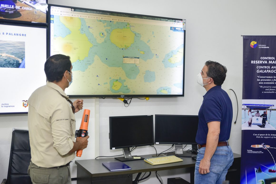 Fortalecemos el Centro de Control de la Dirección del Parque Nacional Galápagos y de la Dirección Regional de Espacios Acuáticos Insulares (DIRGIN)